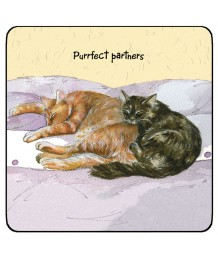 Purrfect Partners Coaster