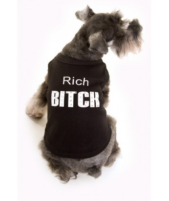 Rich Bitch T-shirt, black