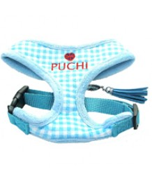 Sky Blue Check Harness & Lead