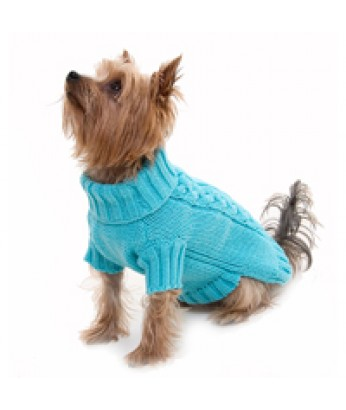 Cable Knit Sweater - Turquoise